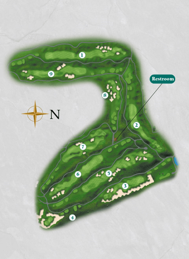 Overview of the front nine on the Starboard Course at Harborside International Golf Center